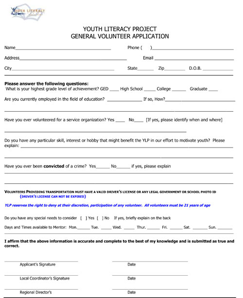 General Application Form General Application Form  Free Documents